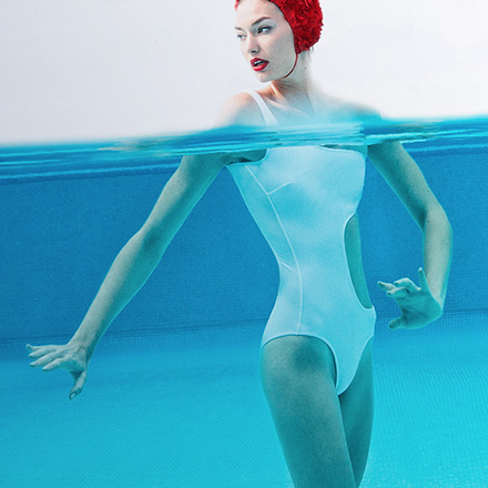 Female swimmer for Melia Hotels dynamic retargeting campaign